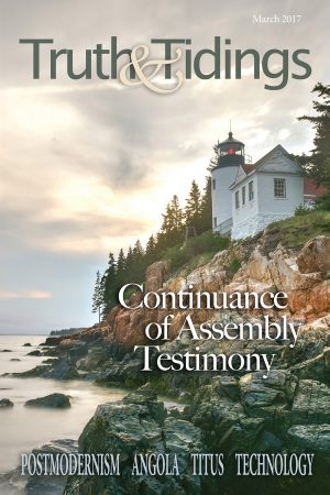 The Continuance of Assembly Testimony in the 21st Century (2)